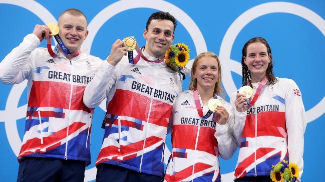 Gran Bretaña logró un nuevo oro en los 4×100 estilos mixto de la natación y con récord mundial