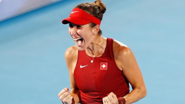 Belinda Bencic se colgó el oro en dramático partido ante Vondrousova