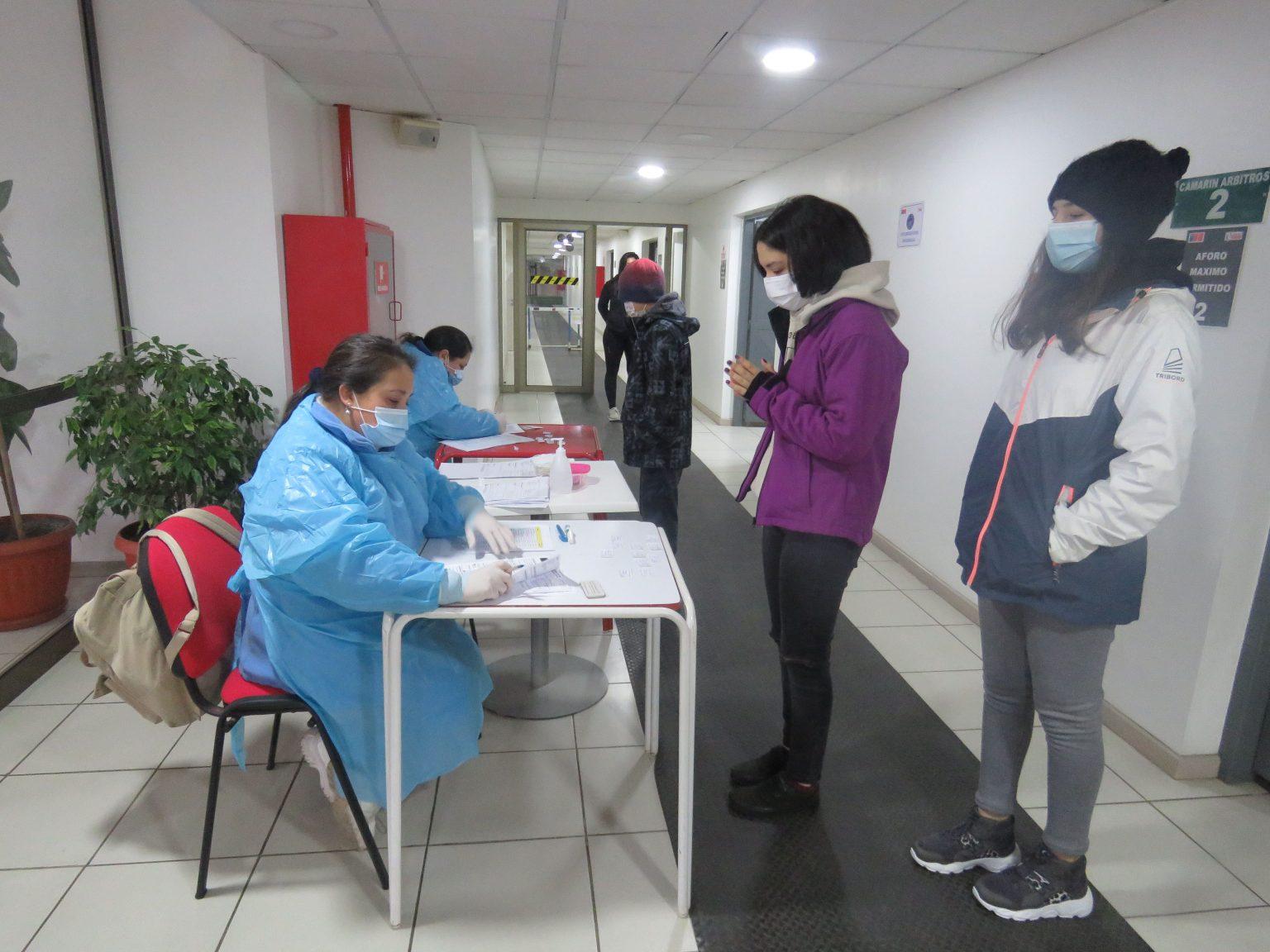 PCR, VACUNACIÓN COVID-19 E INFLUENZA APLICARON A DEPORTISTAS MAULINOS