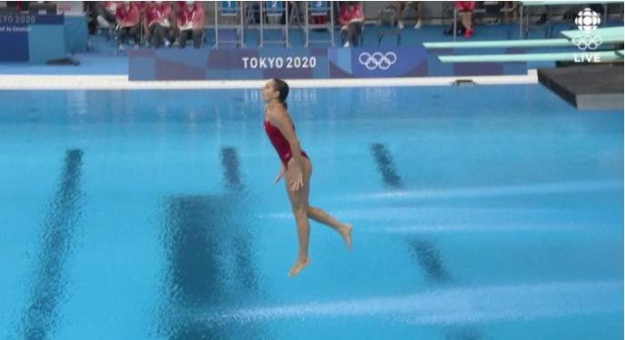 Recibió siete ceros: canadiense Pamela Ware falló en último clavado y quedó eliminada de Tokio 2020