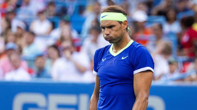 Rafael Nadal también debió bajarse del Masters de Cincinnati