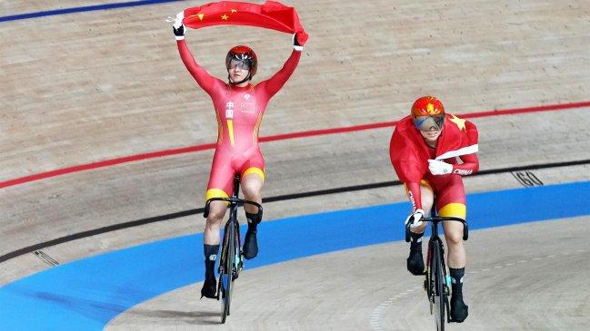 China conquistó el oro olímpico en la prueba de velocidad en ciclismo de pista