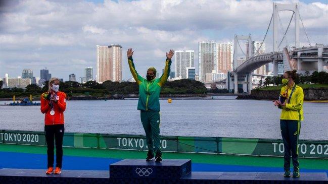 La brasileña Ana Marcela Cunha conquistó el oro en los 10 kilómetros de aguas abiertas en Tokio