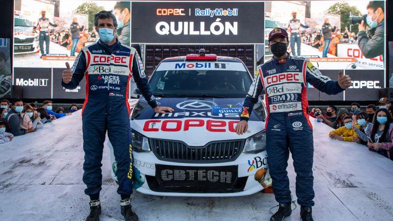 Francisco Chaleco López roza el podio en el rally de Quillón