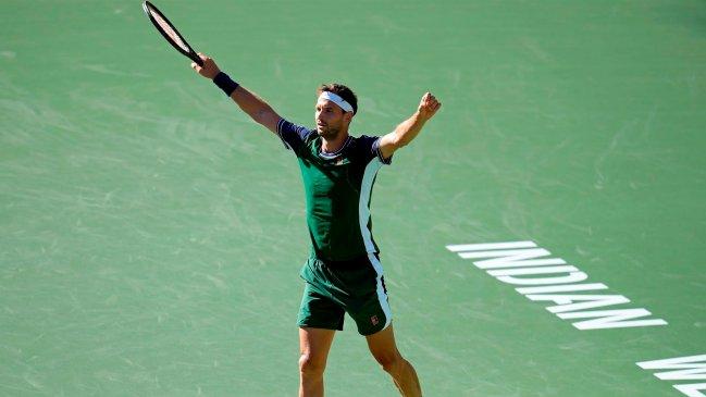 Grigor Dimitrov dio el golpe y eliminó a Daniil Medvedev en octavos de Indian Wells
